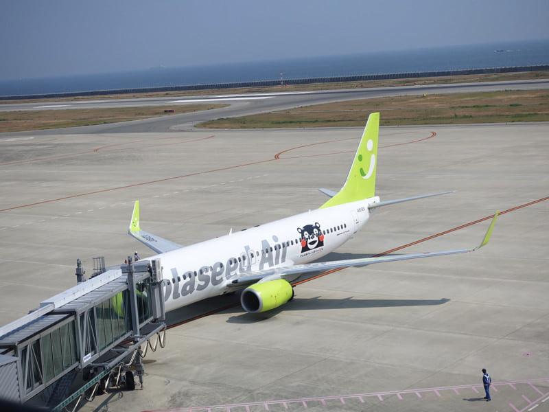 神戸空港にとまっていたソラシドエア便