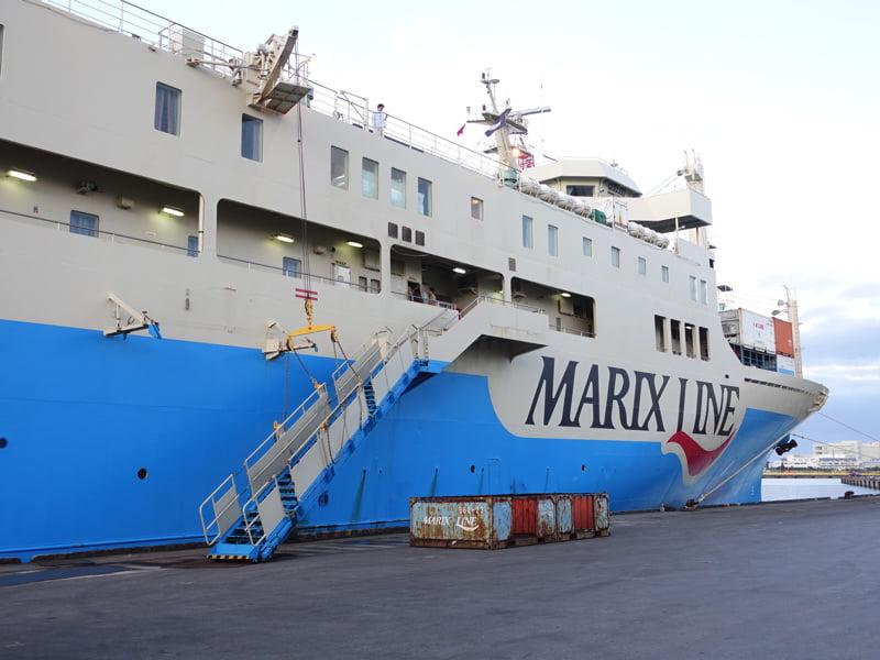 与論島に行くマリックスラインのフェリー