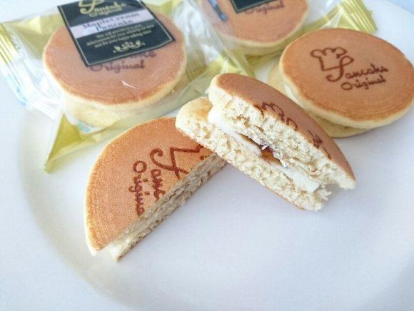 神戸メープルクリームパンケーキ(はちみつ入り) を食べてみた口コミは?販売店舗や通販・カロリー・値段・賞味期限や日持ちのまとめ -  OMIYA!(おみや) 日本のお土産情報サイト