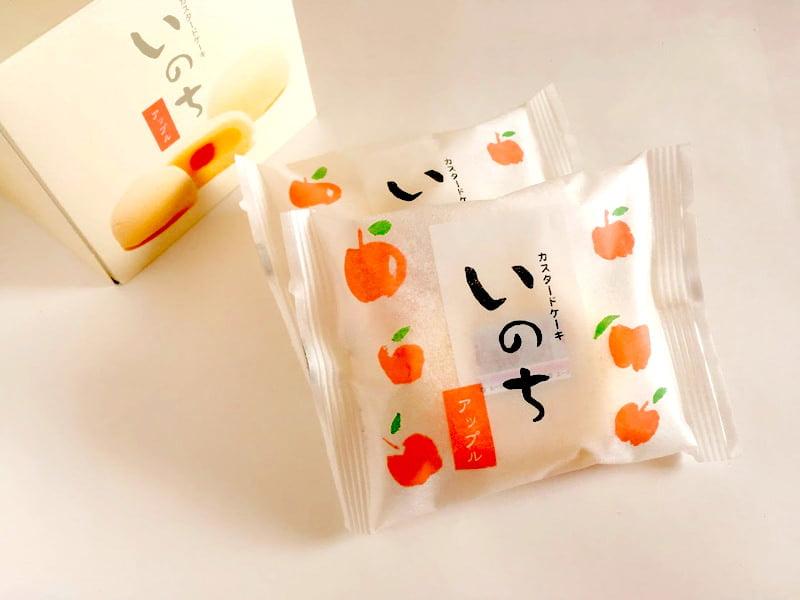 カスタードケーキ いのち(アップル)開封後