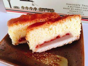 函館トロワバターケーキ中身