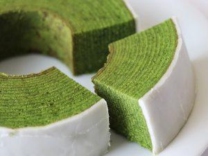 CHIYOの和 静岡茶バウムクーヘン 中身(拡大)の写真