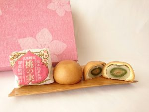 乳菓饅頭 桃の実アップ