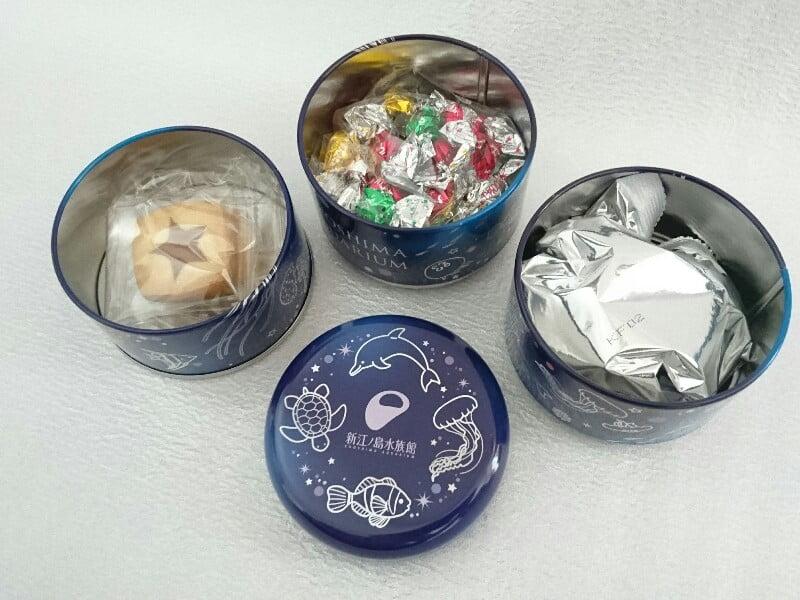 えのすい3段缶(ナイト)中身
