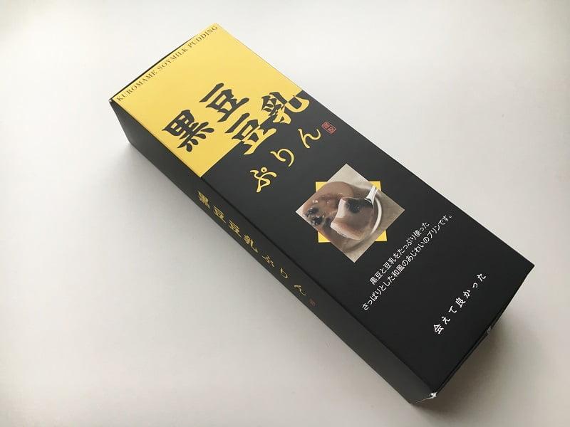 黒豆 豆乳ぷりん外装