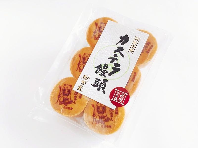 秋芳堂 カステラ饅頭外装