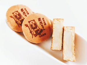 秋芳堂 カステラ饅頭中身