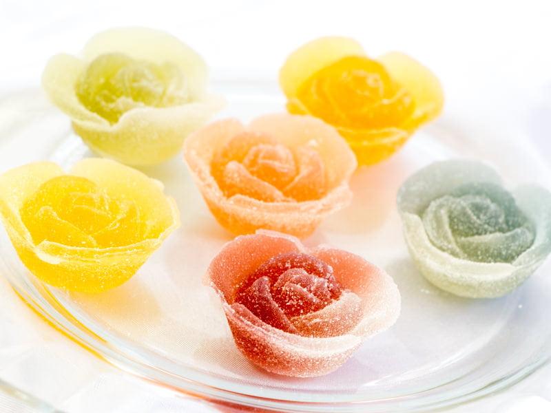 彩果の宝石 花ゼリー 中身の写真