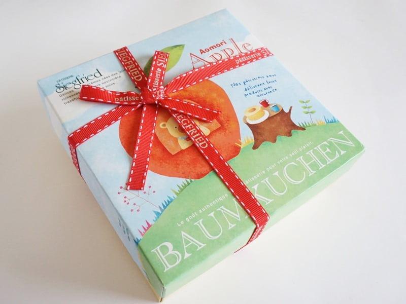 ジークフリート りんごのバウムクーヘン外装