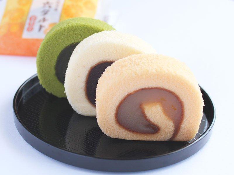 ひと切れ一六タルト 柚子・抹茶・甘夏みかん 中身の写真