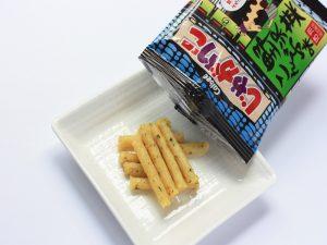 じゃがりこ野沢菜こんぶ味 中身の写真