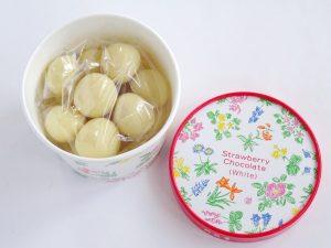 六花亭のストロベリーチョコレート ホワイトの中身