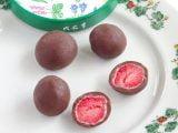 六花亭のストロベリーチョコレート ミルクの中身(拡大)