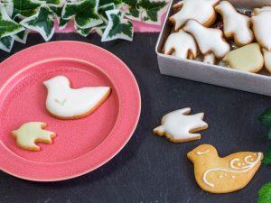 鳥のかたちクッキー 中身の写真