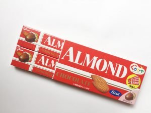ぐりこ・やアーモンドチョコレート開封写真