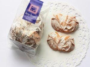 御菓子 花岡 ウェナーデザートクッキー 開封した写真