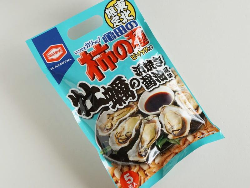 亀田の柿の種 牡蠣の浜焼き醤油風味外装