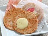 かば田めんたい味お煎餅中身の写真
