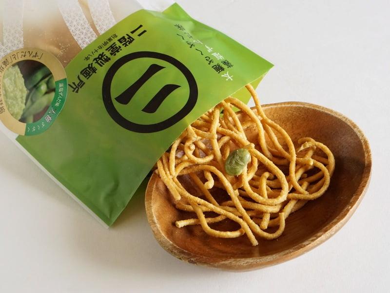 太麺ざくざく 藻塩ずんだ味開封後