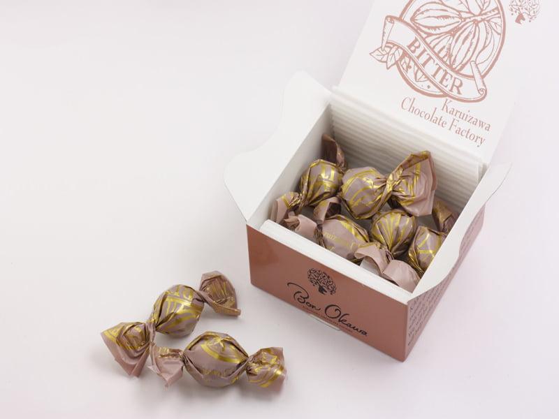軽井沢チョコレートファクトリー チョコレートボールビター 開封した写真