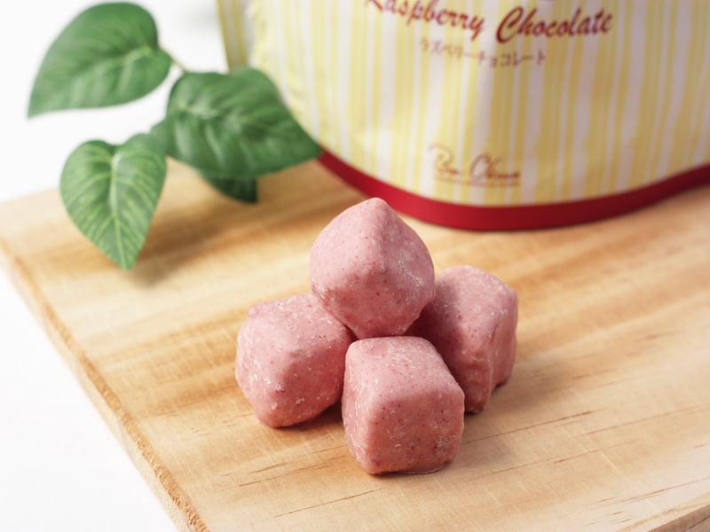 軽井沢チョコレートファクトリー 軽井沢キューブチョコラスク ラズベリーチョコレート 中身の写真