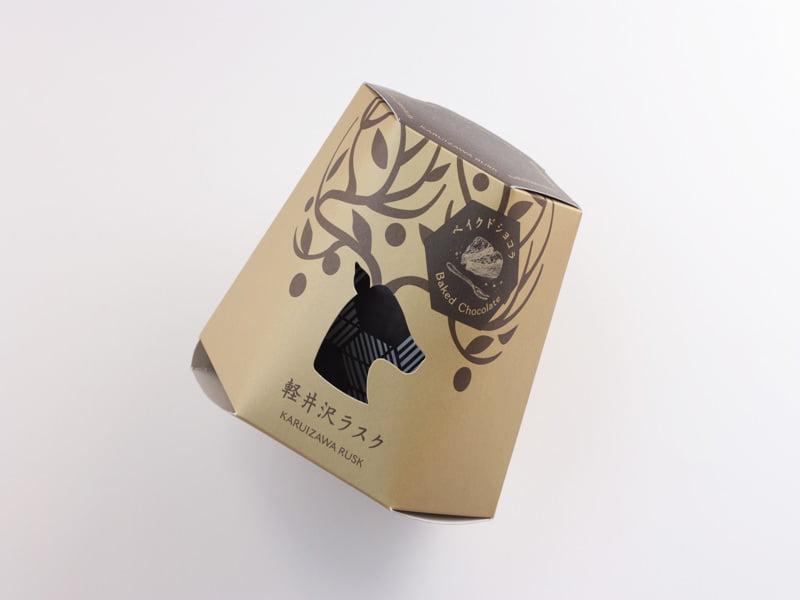 軽井沢チョコレートファクトリー 軽井沢ラスクベイクドショコラ 外装