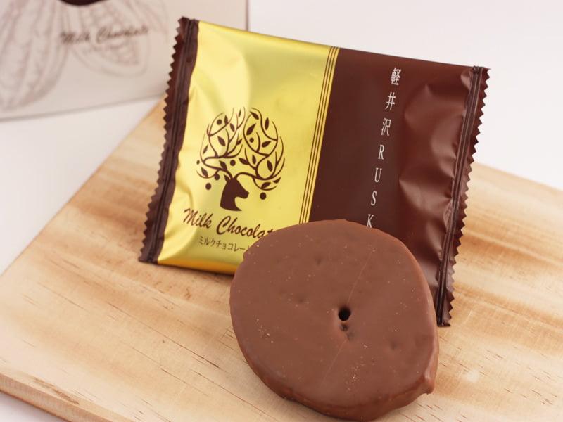 軽井沢チョコレートファクトリー 軽井沢ラスクミルクチョコレート 中身の写真