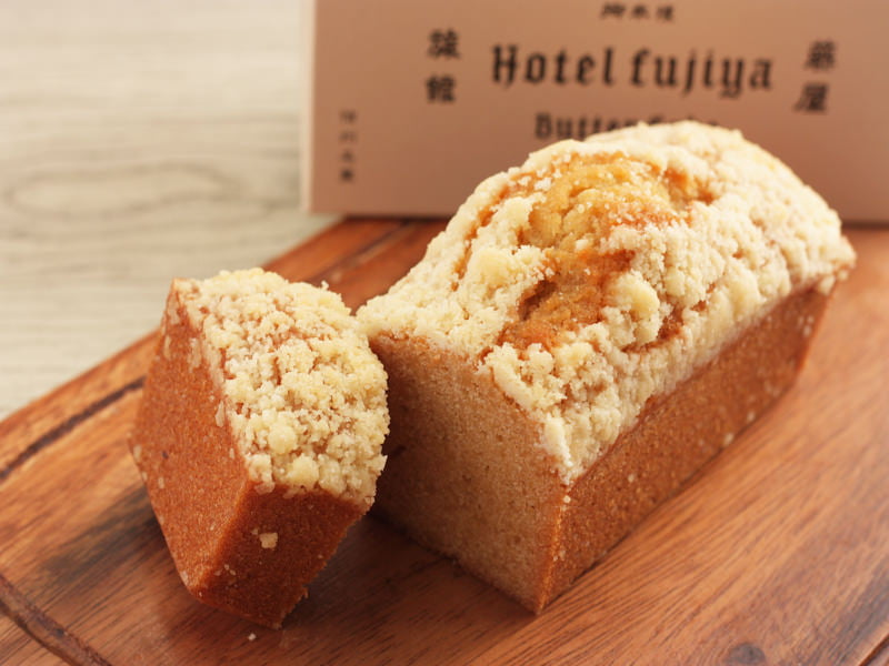 平五郎 ホテルフジヤバターケーキ 中身の写真