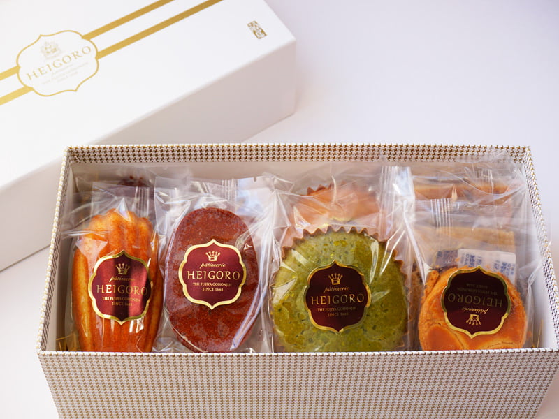 平五郎 焼き菓子セレクション 開封した写真