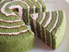 京都ヴェネト 抹茶いちごロールケーキ