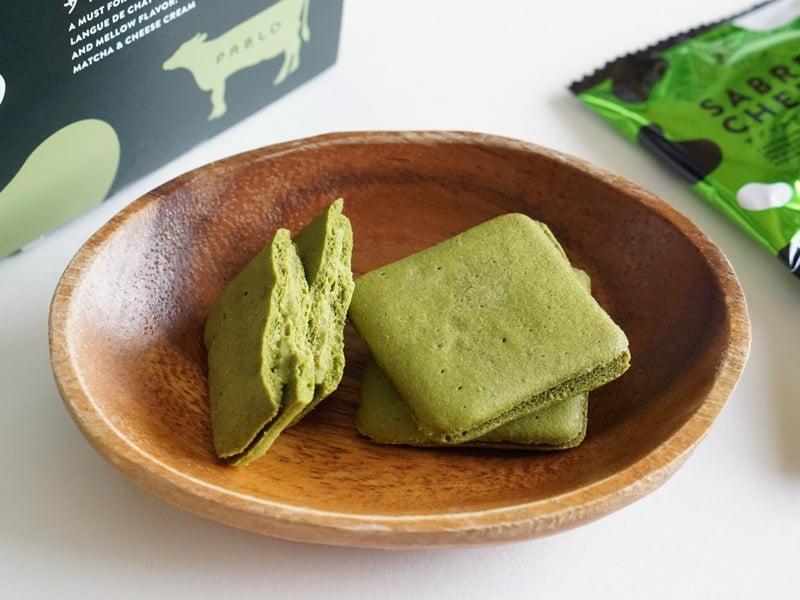 [お取り寄せ(楽天)]PABLO(パブロ) サブレルチーズ 抹茶 ラングドシャ 価格980円 (税込)