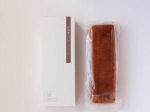 信州里の菓工房 伊那栗のパウンドケーキ 開封した写真
