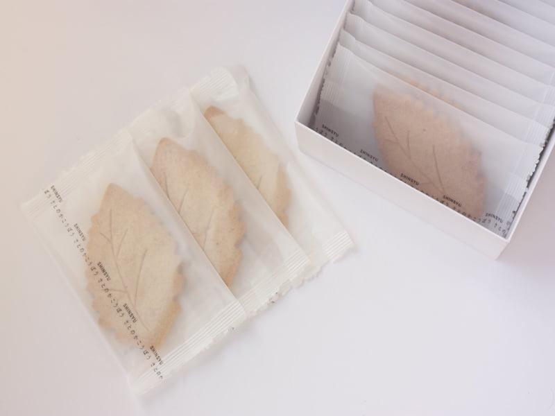 信州里の菓工房 栗サブレ 開封した写真
