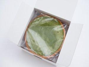 胡蝶庵 濃厚抹茶チーズケーキ 開封した写真
