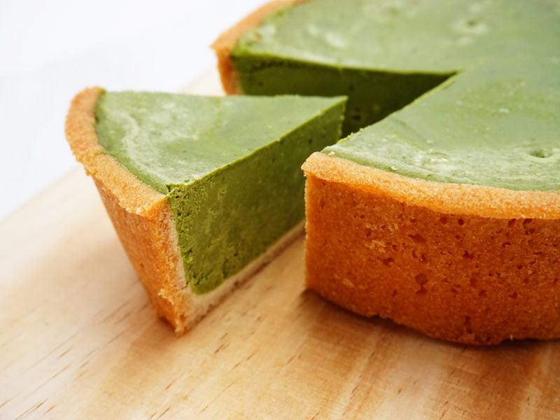 胡蝶庵 濃厚抹茶チーズケーキ 中身の写真