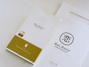 石屋製菓 恋するチョコレート 北海道贅沢ミルクチョコレートと塩外装