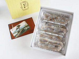 笹井屋のなが餅の開封した写真