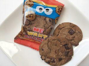 セサミストリートチョコチップクッキー中身写真