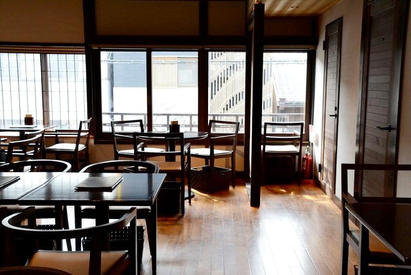 ベルアメール京都別邸カフェスペース