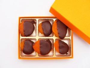 杏花堂 杏ビターチョコレート 開封した写真