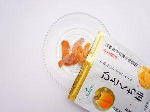 ツルヤ ドライフルーツ ひとくち柿 開封した写真