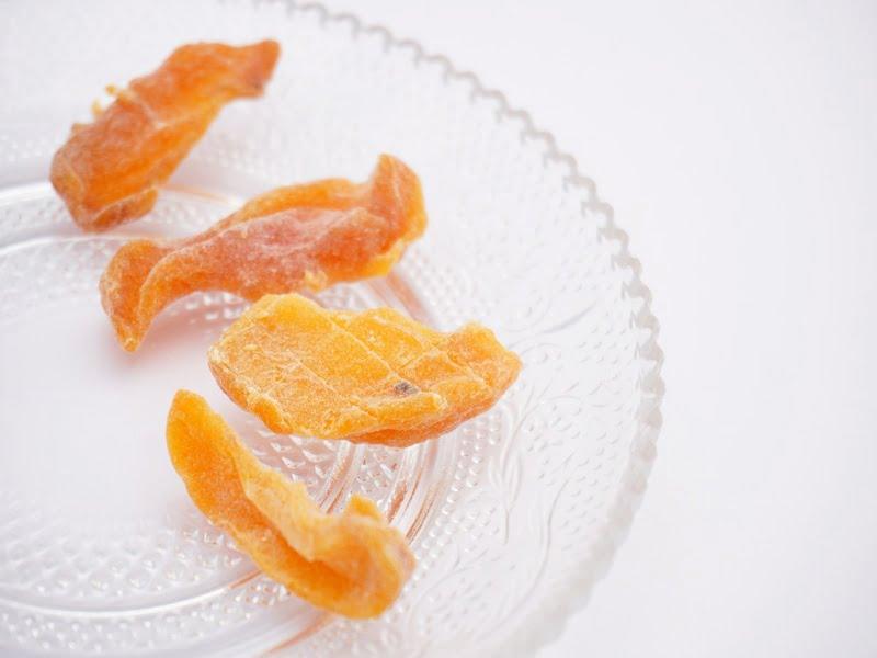 ツルヤ ドライフルーツ ひとくち柿 中身の写真