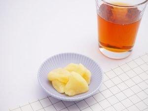 ツルヤ ドライフルーツ ひとくちりんご 中身の写真