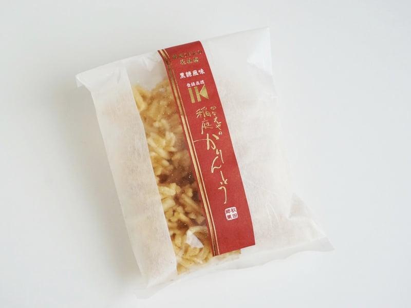 稲庭かりんとう 黒糖風味外装