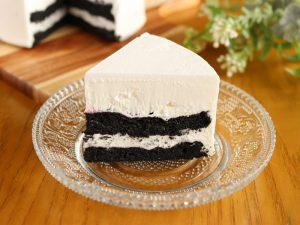 黒いチーズケーキ 中身の写真