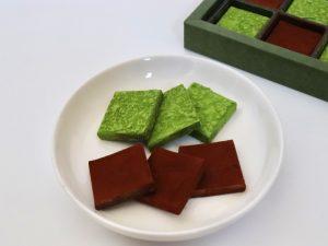 生チョコレートギフトBOX洋酒と抹茶 中身(拡大)の写真