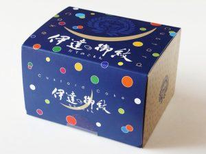 伊達の御紋 カスタードケーキ外装
