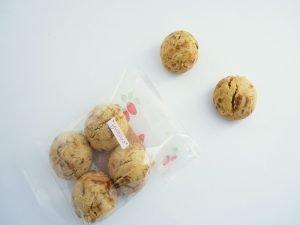 ベーグル屋ハル いちごのクッキー 開封した写真