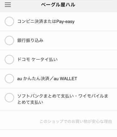 ハル 支払い方法