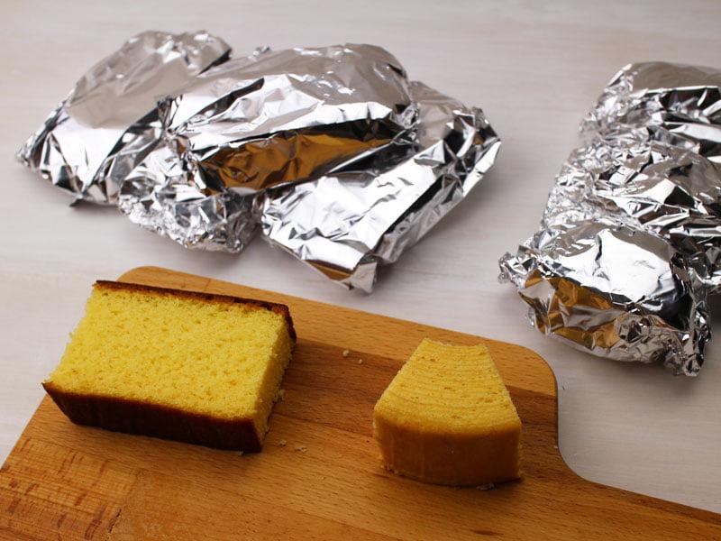お土産菓子を冷凍保存する時の写真